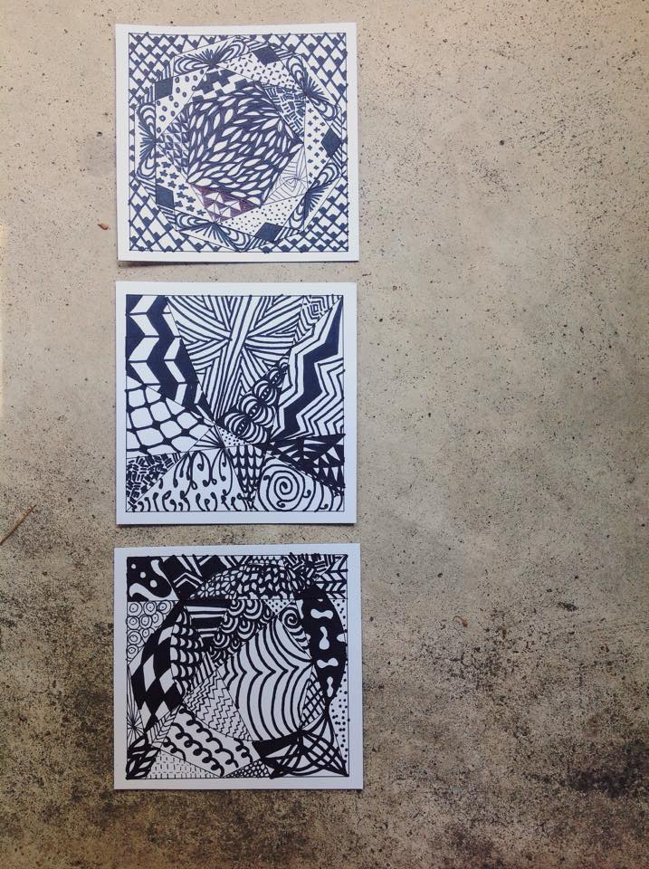 Taught our youth about stress management and practiced one, Zentangles.